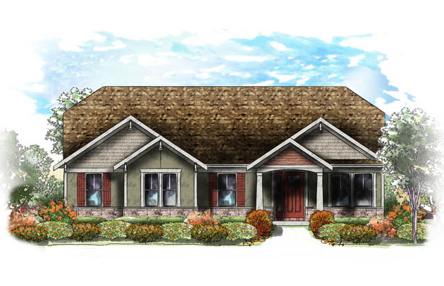 Fischer Homes - Sullivan Model Exterior